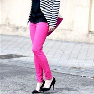Cabi pink skinny jeans